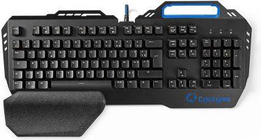 Nedis Mekanisk gamingtastatur | RGB-lys | Fransk | Metaldesign, GKBD400BKFR