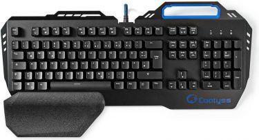 Nedis Mechanical Gaming Keyboard | RGB Illumination | German | Metal Design, GKBD400BKDE