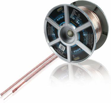 Profigold Speaker Cable on Reel 2x 1.50 mm² 100 m Transparent, PGC7154