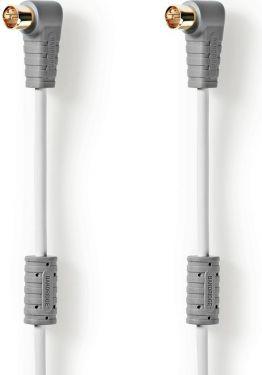 Bandridge Satellite Cable   F-Quick Male Angled - F-Quick Male Angled   3.00 m   White, BVL9403