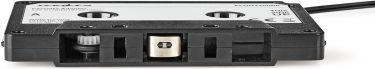 Nedis Cassette Adapter   3.5 mm Male   Black, ACON2200BK