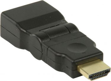 Valueline High Speed HDMI with Ethernet Adapter Swivel HDMI Connector - HDMI Female Black, VGVP34905