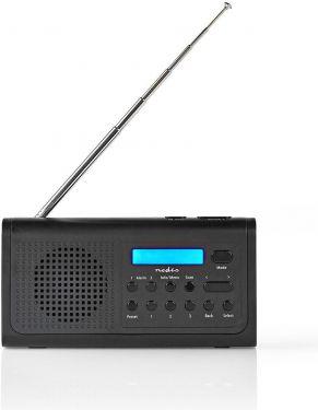 Nedis DAB+-radio   3 W   FM   Ur- og alarmfunktion   Sort, RDDB1500BK