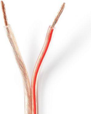 Nedis Højttalerkabel | 2 x 2,50 mm2 | 15,0 m | Tromle | Gennemsigtig, CABR2500TR150