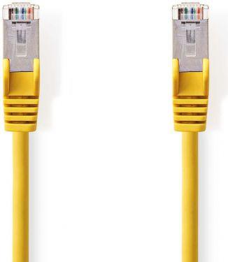 Nedis Kat. 5e SF/UTP-netværkskabel | RJ45-hanstik | RJ45-hanstik | 15 m | Gul, CCGP85121YE150