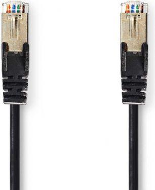 Nedis Kat. 5e SF/UTP-netværkskabel | RJ45-hanstik | RJ45-hanstik | 1,0 m | Sort, CCGP85121BK10