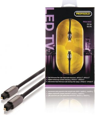 Profigold Digital Audio Cable TosLink Male - TosLink Male 2.00 m Anthracite, PROL5602