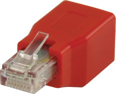 Valueline CAT6 Network Adapter RJ45 (8P8C) Male - RJ45 (8P8C) Female Red, VLCB89251R