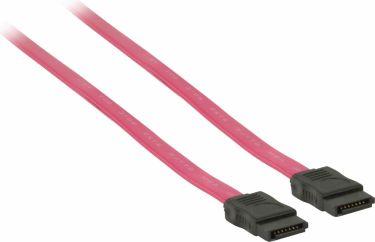 Valueline Sata 3 Gb /S Kabel Internal SATA 7-Pin Hun - SATA 7-Pin Hun 1.00 m Rød, VLCP73100R10