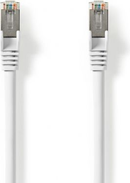 Nedis Cat 8.1 S/FTP Network Cable | RJ45 Male to RJ45 Male | 0.25 m | White, CCGP85520WT025