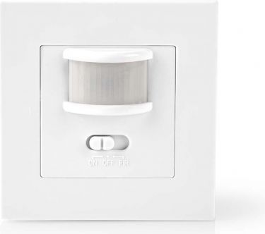Nedis Motion Detector | 2-Wire Installation | Adjustable Time and Ambient Light Settings, PIRII40WT