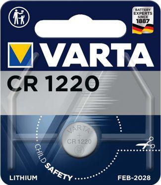 Varta Lithium Button Cell Battery CR1220 3 V 1-Blister, 6220.101.401