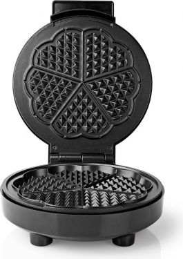 Nedis Waffle Plate | 19 cm | 1000 W | Black, KAWP100BK
