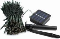 Udendørs solcelle LED lyskæde 100 Varm Hvide LEDs (12m)