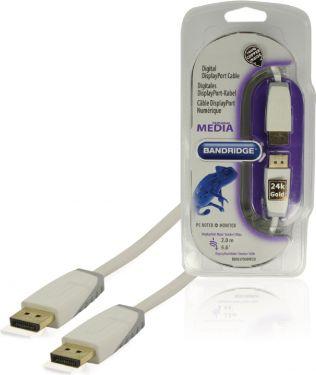 Bandridge DisplayPort Cable DisplayPort Male - DisplayPort Male 2.00 m White, BBM37000W20