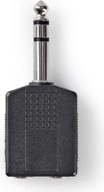 Nedis Stereo-audioadapter | 6,35 mm hanstik – 2 x 6,35 mm hunstik | 10 stk. | Sort, CAGP23940BK
