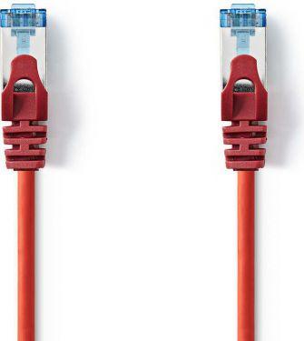 Nedis Kat. 6a SF/UTP-netværkskabel | RJ45-hanstik | RJ45-hanstik | 1,0 m | Rød, CCGP85320RD10