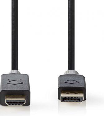 Nedis DisplayPort - HDMI-kabel | DisplayPort-hanstik - HDMI™-stik | 2,0 m | Antracit, CCBW37100AT20