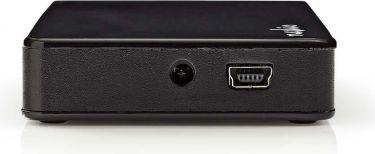 Nedis USB-hub | 4 porte | USB 2.0 | Separat strømforsyning, UHUBU2430BK