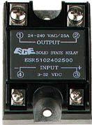 Solid state relæ 3-23Vdc, 240VAC / 25A, 1 x slutte