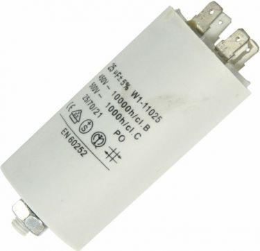 MOTOR kondensator 25uF / 450V, M8 forskruning, Spadestik