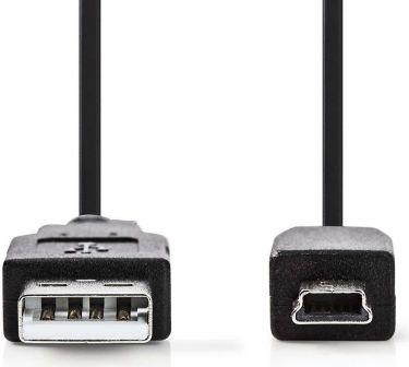 Nedis USB 2.0-kabel | A-hanstik | Mini-hanstik med 5 ben | 1,0 m | Sort, CCGP60300BK10