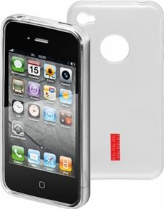 """<span class=""""c9"""">GOOBAY -</span> TPU cover til iPhone 4/4s Soft Touch, Hvid"""