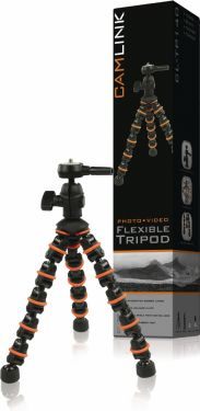 Camlink Flexible Tripod 28.5 cm 1 kg Black/Orange, CL-TP140