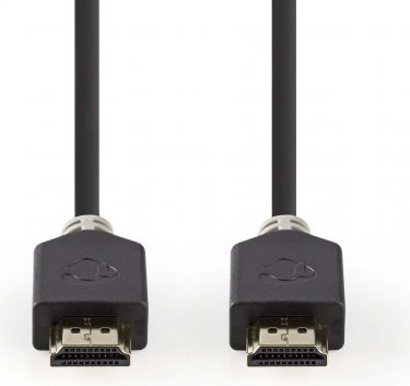 Nedis High Speed HDMI™ Cable with Ethernet   HDMI™ Connector - HDMI™ Connector   2.0 m   Anthracite,