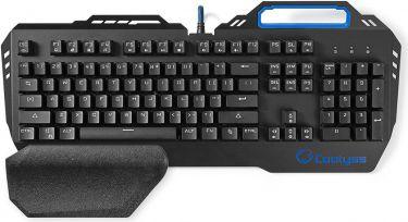 Nedis Mechanical Gaming Keyboard | RGB Illumination | US International | Metal Design, GKBD400BKUS