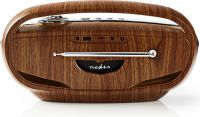 Nedis FM Radio | 60 W | Bluetooth® | Brown / Silver, RDFM5310BN