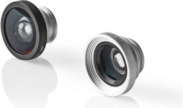 Nedis Mobile Phone Camera Lens Kit | 3 in 1 | Macro / Wide Angel & Fisheye | Clip-on, SMLK200