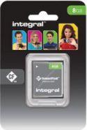 "PC-udstyr og datatilbehør, <span class=""c10"">INTEGRAL -</span> Compact Flash kort 8GB CF 133x"