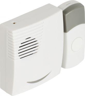 Valueline Dc Batteri Trådløs Dørklokke Sæt 70 dB Hvid/Grå, SVL-WDB201