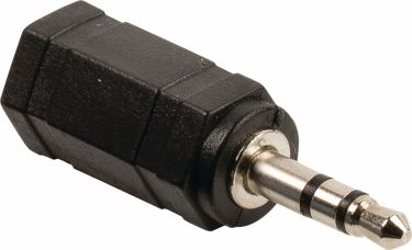 Valueline Stereo Audio Adapter 3.5 mm Male - 2.5 mm Female Black, VLAB22930B