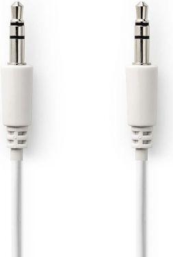 Nedis Stereo Audio Cable | 3.5 mm Male Slim - 3.5 mm Male Slim | 1.0 m | White, CAGP22005WT10