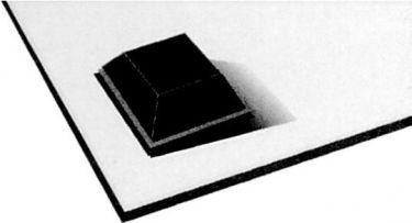 Gummifod Sort selvklæbende 9,7 x 9,7 x 2mm (10 stk.)