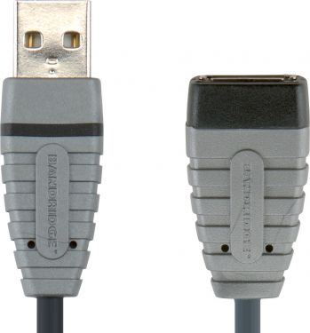 Bandridge USB 2.0 Extension Cable USB-A Male - USB A Female Round 4.50 m Blue, BCL4305