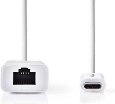 Nedis USB Type-C Adapter Cable   Type-C Male - RJ45 (8P8C) Female   0.2 m   White, CCGB64950WT02