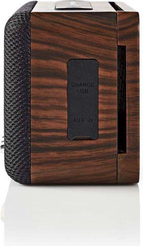 Nedis Bluetooth®-højttaler | 30 W | Vandtæt | Equalizer | Sort/brun, SPBT34100BN