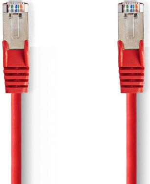Nedis Kat. 5e SF/UTP-netværkskabel | RJ45-hanstik | RJ45-hanstik | 0,5 m | Rød, CCGP85121RD05