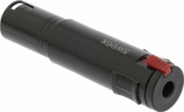 Sweex Xlr Adapter XLR 3-Pin Han - 6.3 mm Hun Sort, SWOP15945B