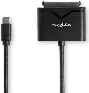 Nedis Harddiskadapter | USB-C | SATA | Universal | Med strømforsyning, USARPUC100BK