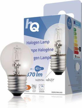 HQ Halogenpære E27 Mini Globe 28 W 370 lm 2800 K, HQHE27BALL002