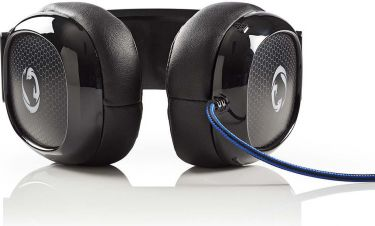 Nedis Gaming Headset | Over-ear | Ultra Bass | LED Light | 3.5 mm & USB Connectors, GHST300BK