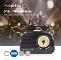 Nedis DAB+ Radio | 5.4 W | FM | Carrying Handle | Black, RDDB5000BK