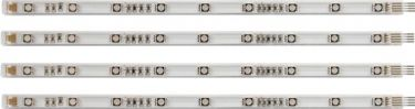 """<span class=""""c9"""">HQ Power -</span> LED stripsæt 12Vdc, RGB (4x25cm) inkl. netadapter"""