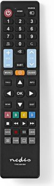 Nedis Replacement Remote Control | Preprogrammed | Control 5 Devices, TVRC4051BK