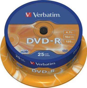 """<span class=""""c9"""">Verbatim -</span> DVD-R medie 4,7GB """"Minus"""" format, 16x (25 stk. spindel)"""