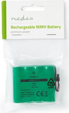 Nedis Nickel-Metal Hydride Battery | 4.8 V | 1100 mAh | Wired Connector, BANM11T0161